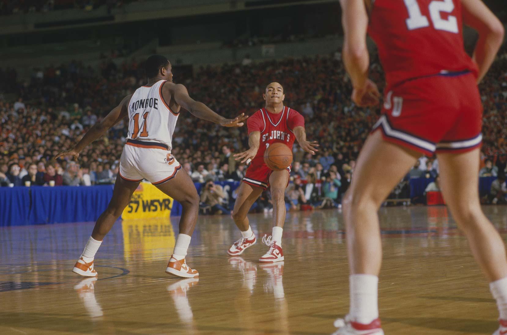Mark Jackson von St. John im Spiel gegen Syracuse, 1980er Jahre © Focus on Sport/Getty Images
