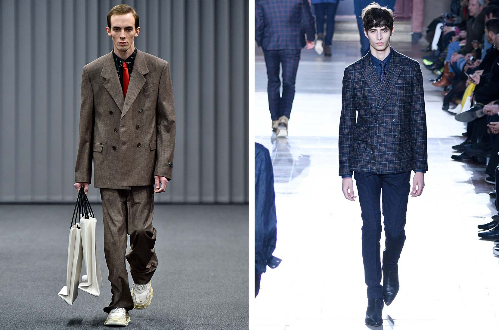 Balenciaga Victor ©VIRGILE/Gamma-Rapho/Getty Images                      Oscar Kindelan på catwalken til Paul Smith Menswear efterår/vinter                                                                                                                2017-2018 som del af Paris Fashion Week 22. januar, 2017 i Paris i                                                                                                                       Frankrig. (Foto af Peter White/Getty Images)