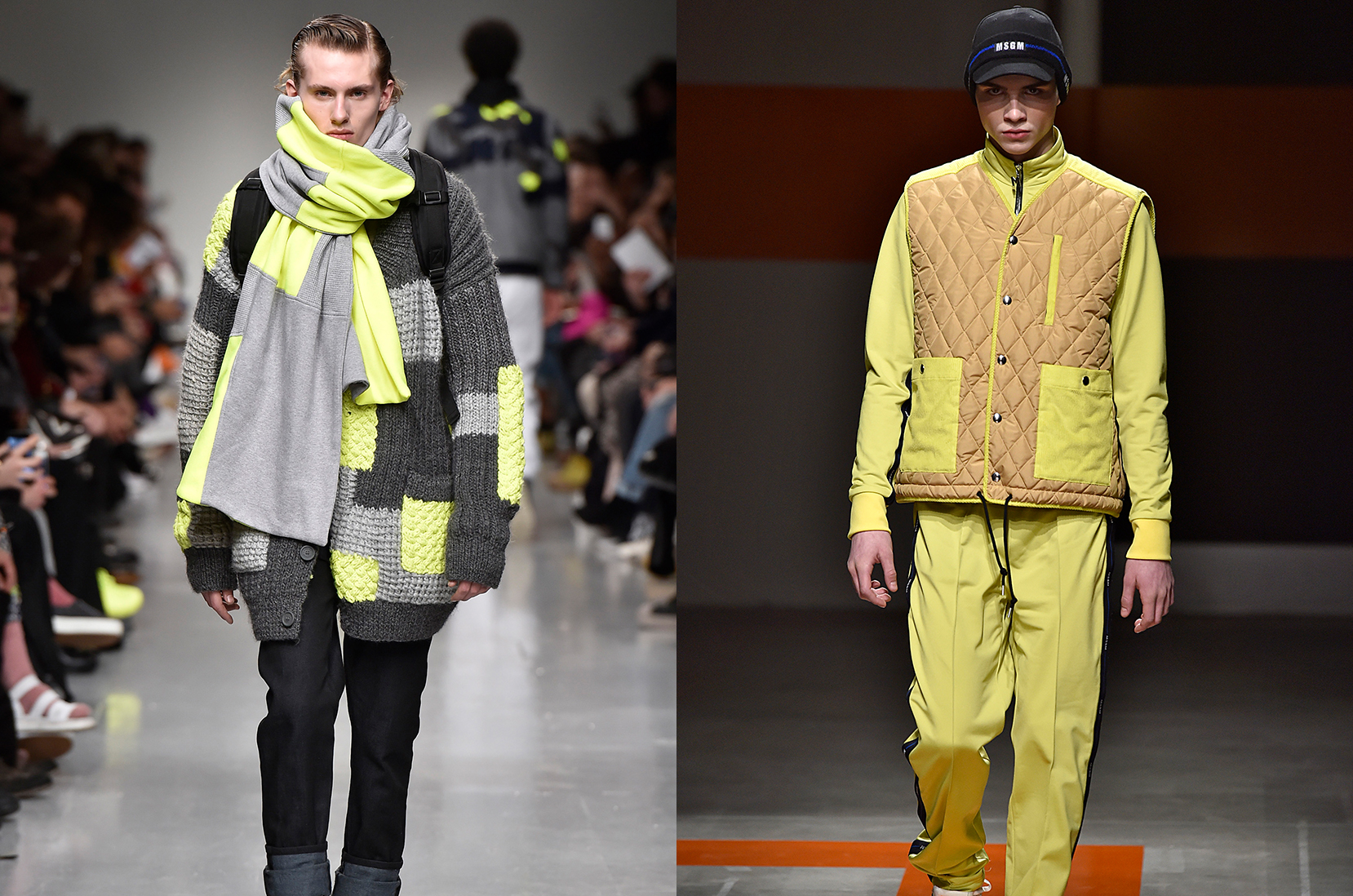 MSGM A/W 2017 © Victor VIRGILE/Gamma-Rapho/Getty Images | Christopher Raeburn efterår/vinter 2017 © Catwalking/Getty Images