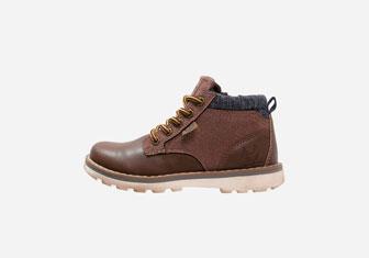 Zalando SKU product XT114I009-O11, brown leather boots