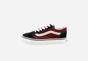 Zalando SKU product VA216D001-K11, black and red low Vans sneakers