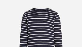 Zalando SKU product H0726G006-K11, blue t-shirt with white stripes
