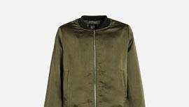 Zalando SKU product NL623L00C-N11, olive green bomber jacket