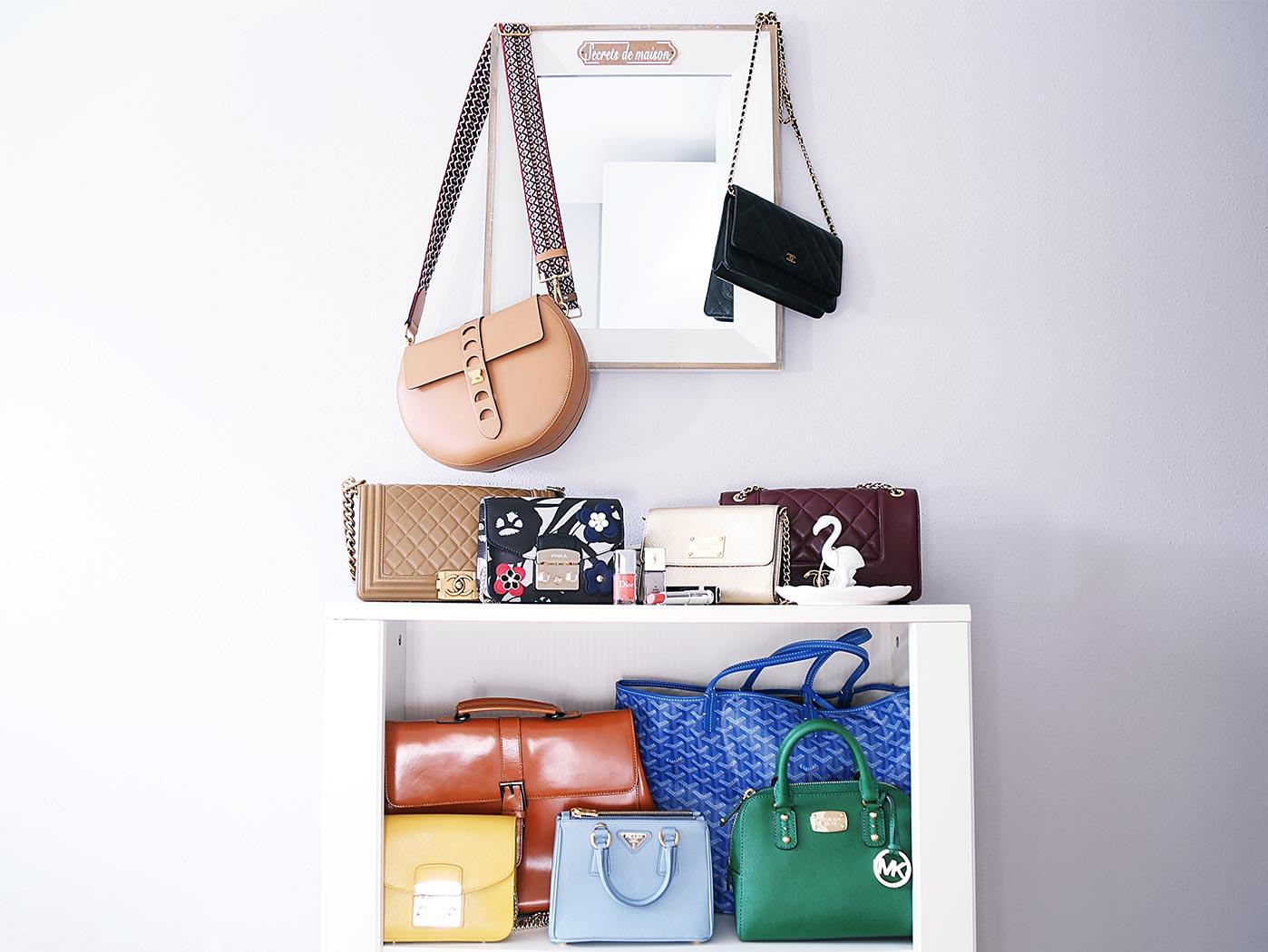 Así guarda Rebeca Labara sus bolsos en casa