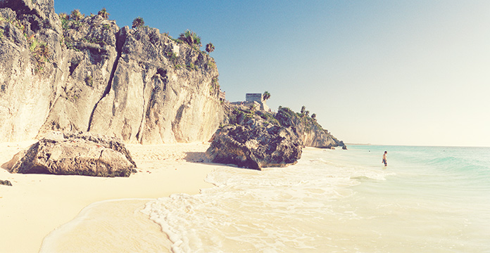 Landschaftsbild von einem Strand