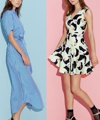 Verscheidene Formen bei Kleidern