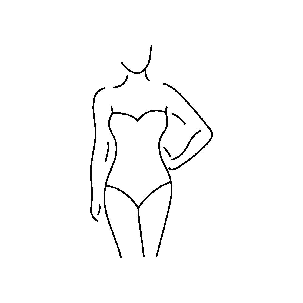 Kształt ciała typ klepsydry