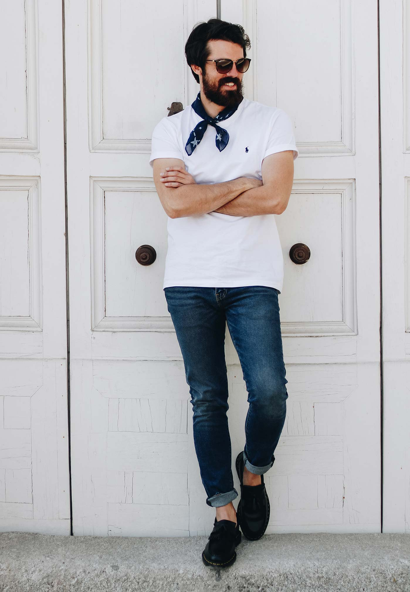 Alex de Marcos im casual Outfit in Madrid