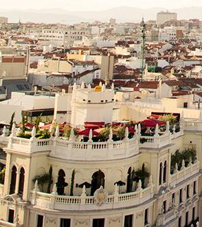 Dachterasse CBA Madrid