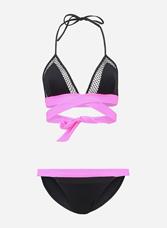 Bikini con top intrecciato