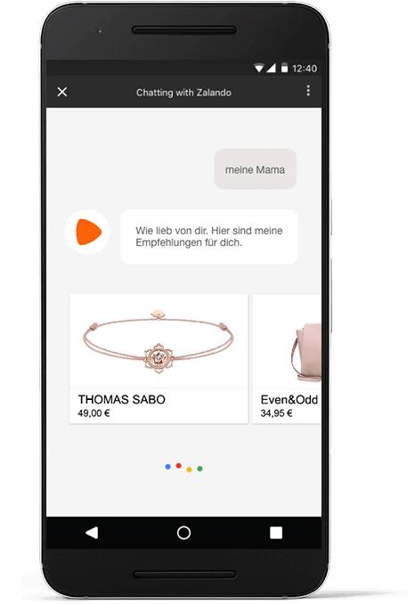 Wie finde ich das passende Geschenk mit dem Google Assistant bei Zalando