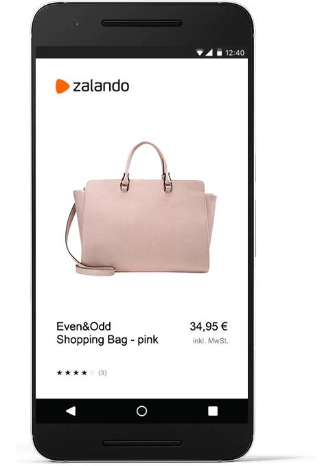 Geschenk direkt einkaufen und bestellen mit dem Zalando Geschenkefinder