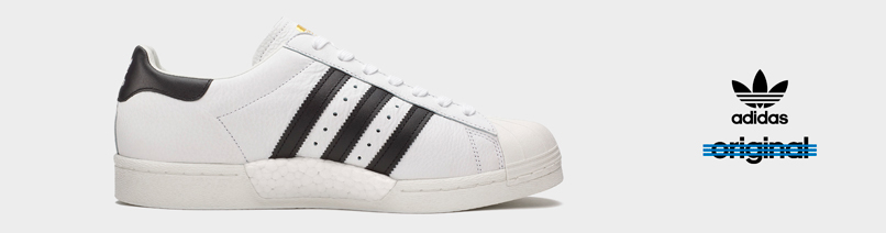 adidas superstar heren wit zwart