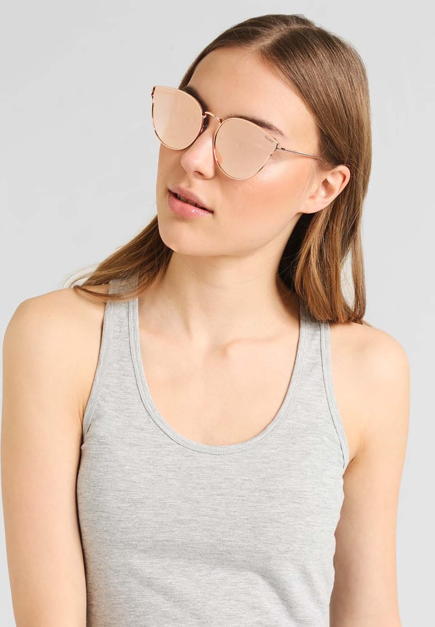 Damskie okulary przeciwsłoneczne do twarzy w kształcie serca