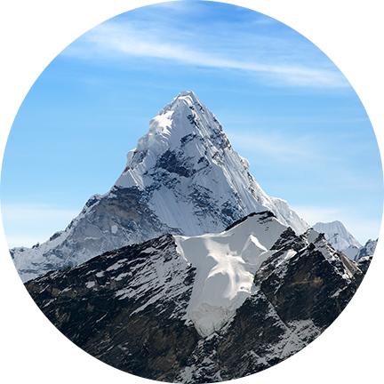 Eis und Gletscherregionen