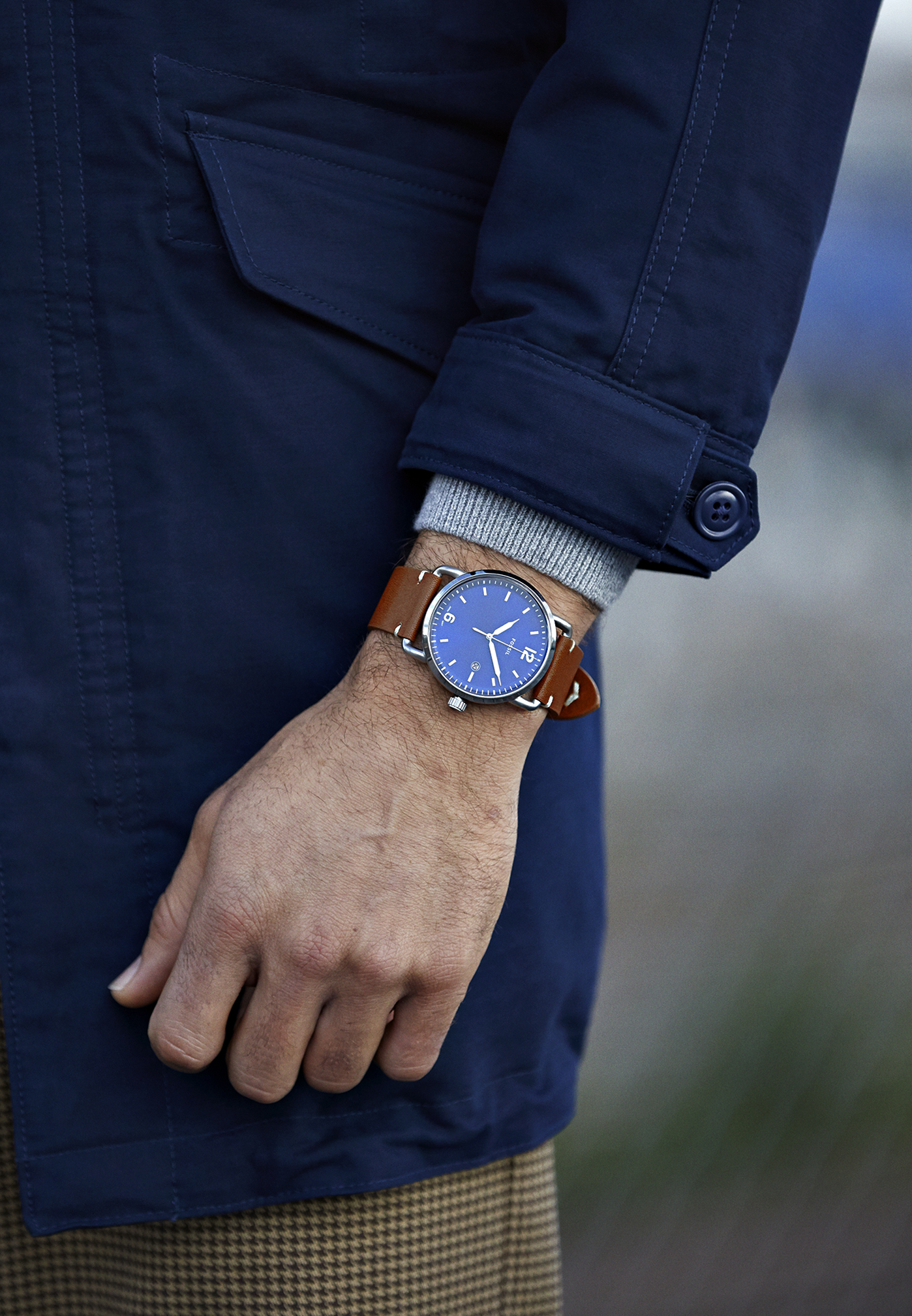 Męski zegarek analogowy