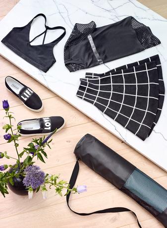Logos, Prints i Yogaoutfit - Sammensætning af fede yogaoutfits