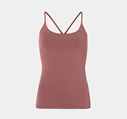 rotes Yoga Top