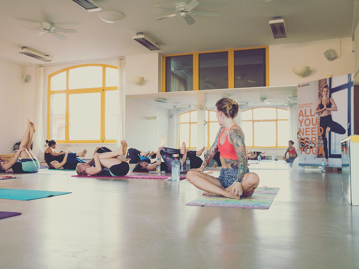 Location:In diesem Yogastudio fand das Event statt
