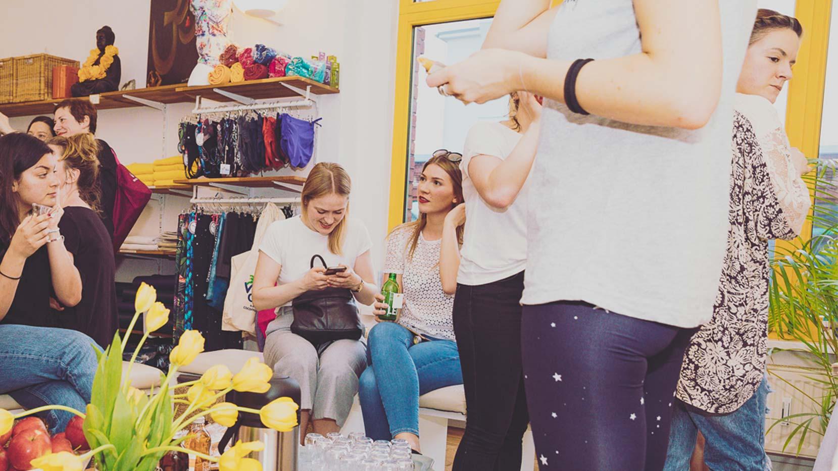 Yoga Event mit Zalando in Koop mit Jelena Lieberberg