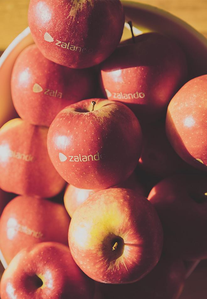 Gebrandeter Zalando Äpfel