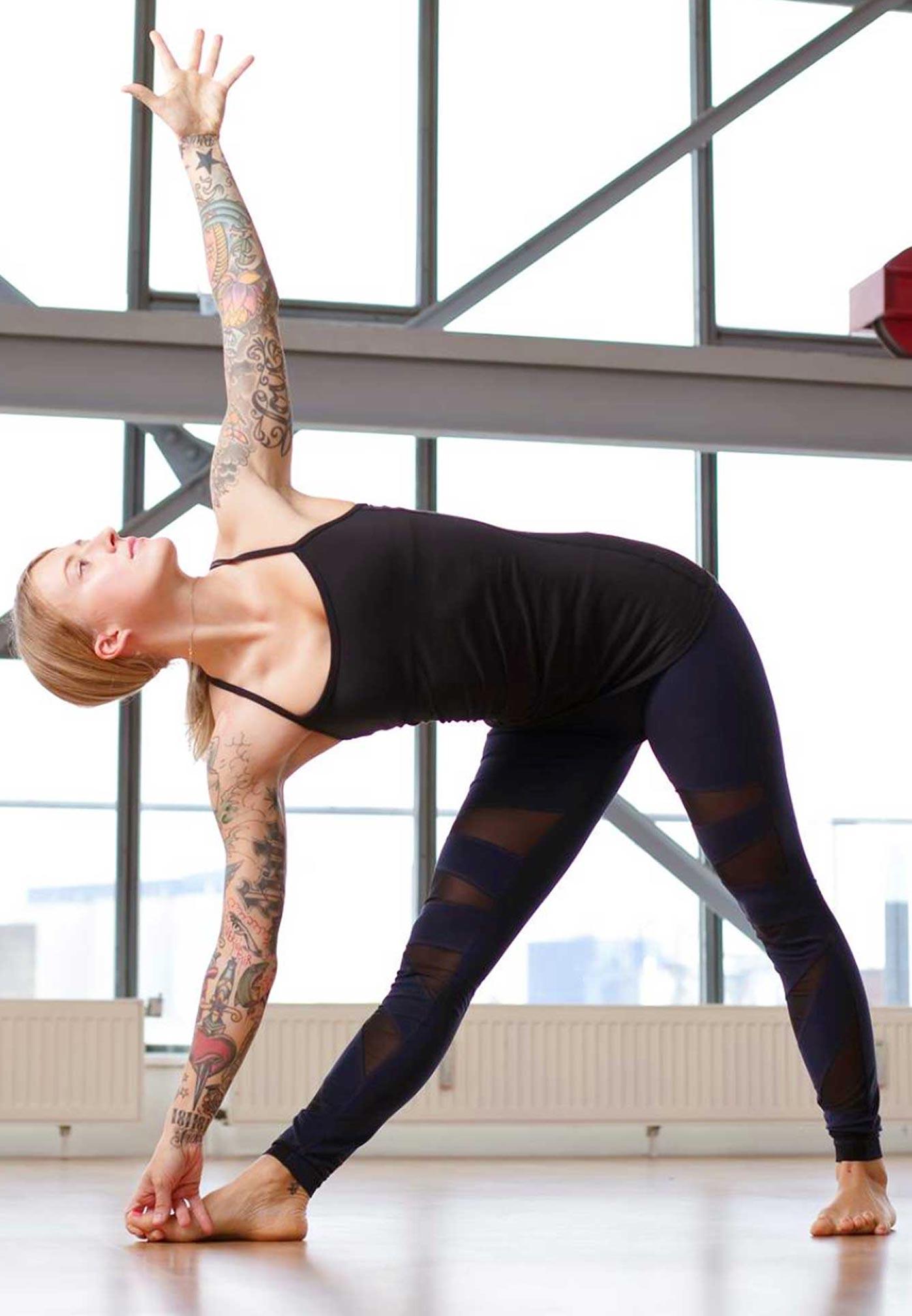 Jelena Lieberberg in Yoga Pose