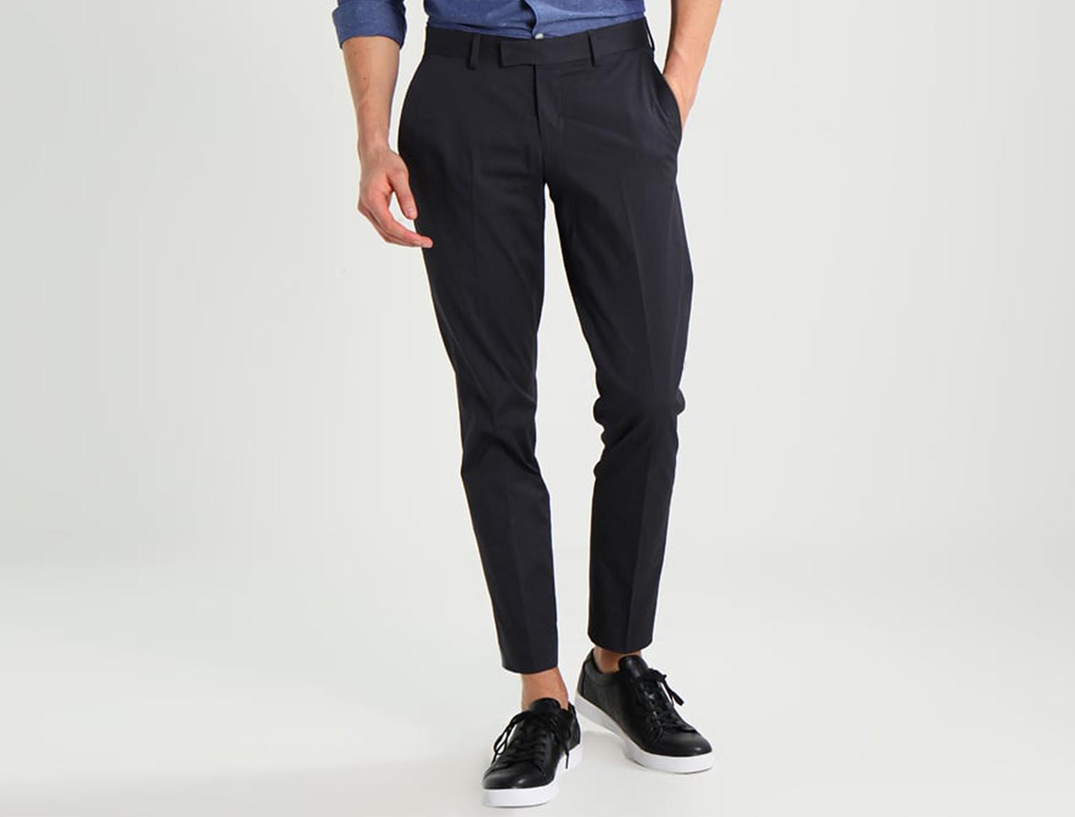 Zapatillas de vestir de hombre, negras