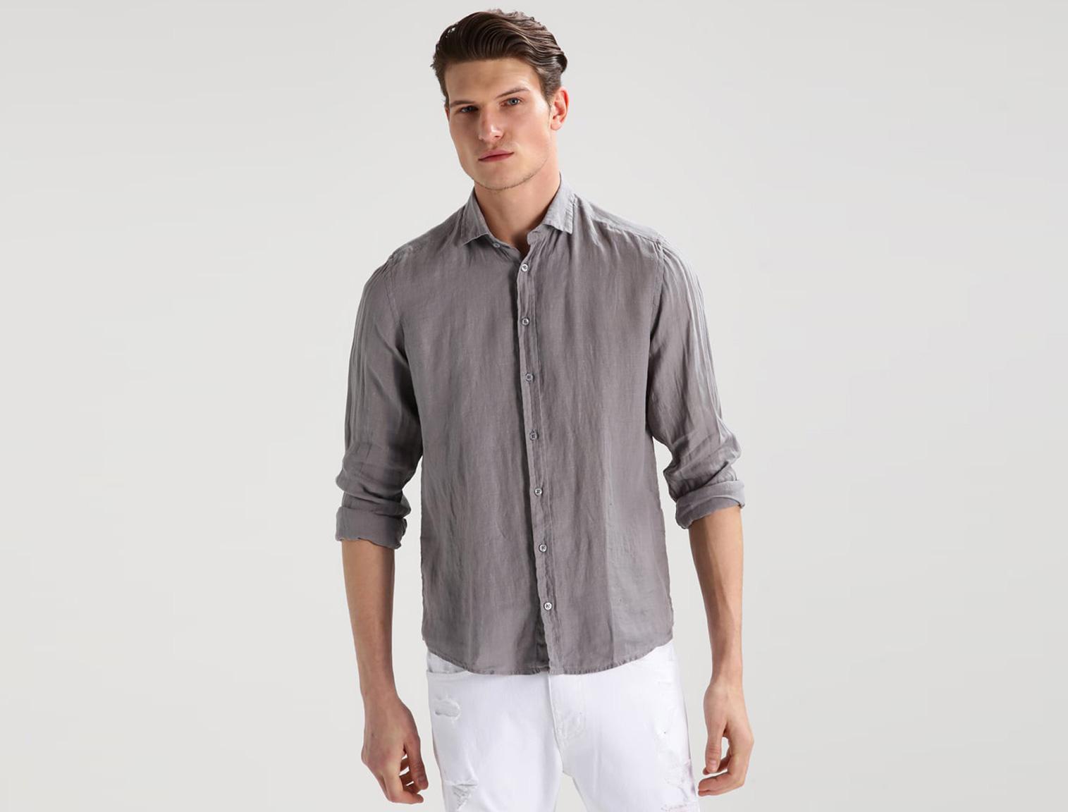 Lniana koszula dla mężczyzn w Zalando