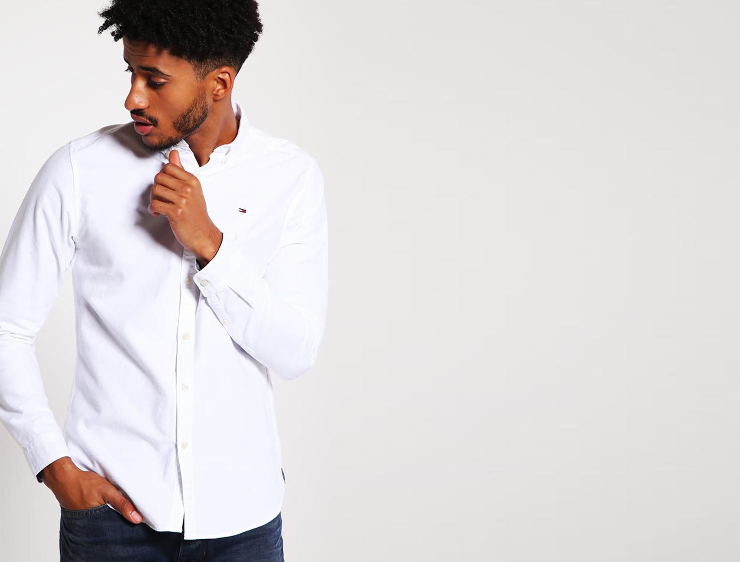 5878954950424 Biała koszula dla mężczyzn w Zalando