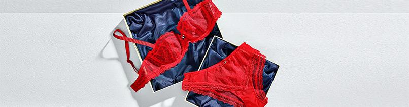 lencería roja